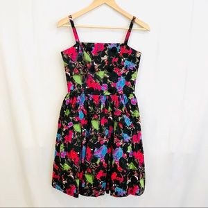 Betsey Johnson Floral Swing Button Dress